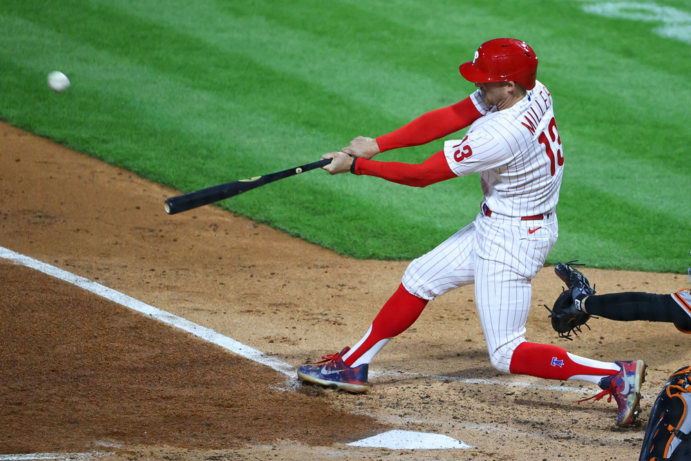 Brad Miller hits a home run